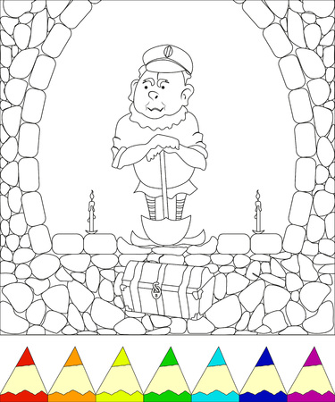 Buried treasure illustration. vector