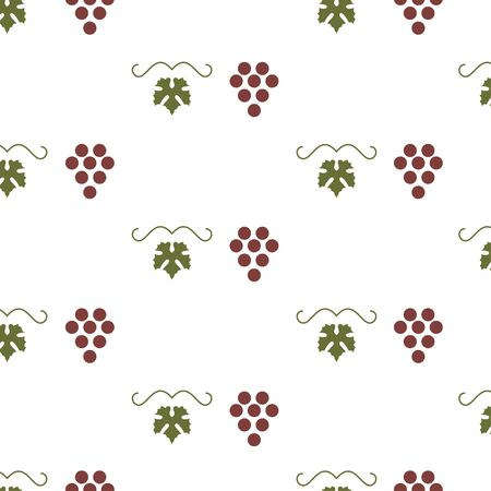 bunch: Bunch of grapes seamless pattern