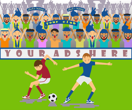 Illustration a soccer match