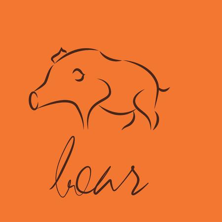 boar symbol icon Illustration