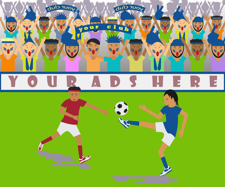 buff: Illustration of a soccer match Illustration