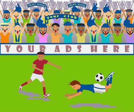 Illustration of a soccer match Illustration