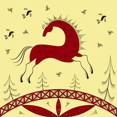 nag: Abstract ethnic pattern Illustration
