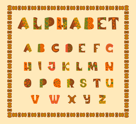alphabetic: Alphabetic in ethnic african desision