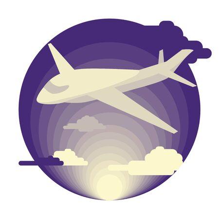 flat: Airplane in flat design