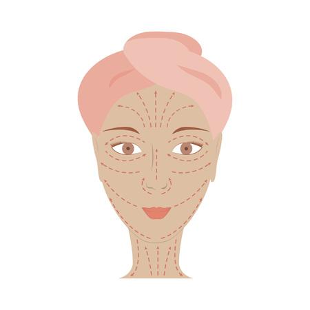 Poster von Gesichts-Technik Massage