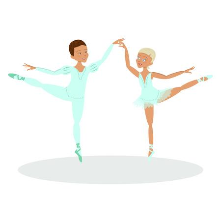 male ballet dancer: boy and girl ballet dancers