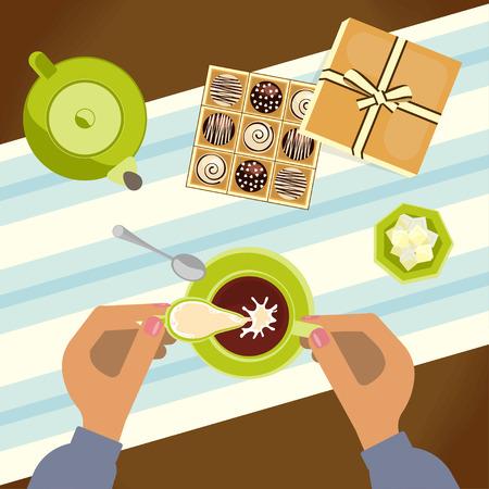 Menu for tea time Illustration