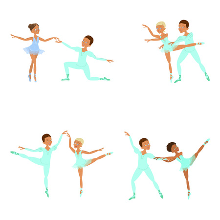 boy and girl ballet dancers