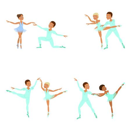boy and girl ballet dancers