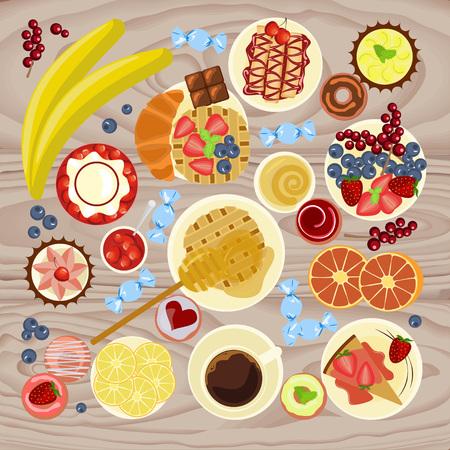 Sweet menu for cofee break