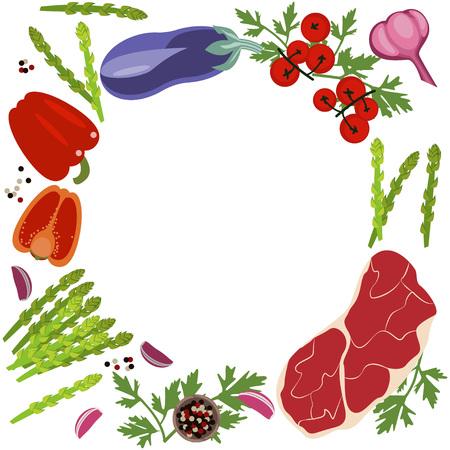 Banner of Raw food Illustration