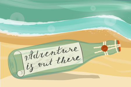 secret word: Adventure is out there Illustration