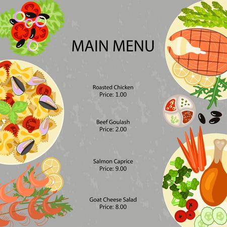 main: Main restaurant menu Illustration