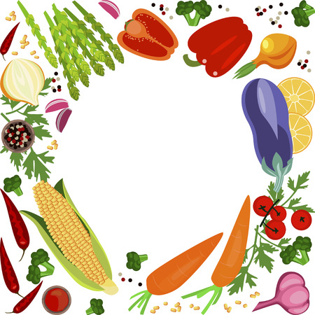 main dishes: Banner of Raw food Illustration