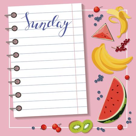 weekly: Sheet of diet plan