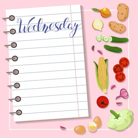 Blad van dieetplan