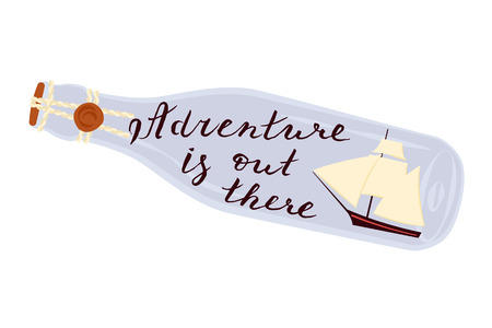 Adventure is out there Illustration