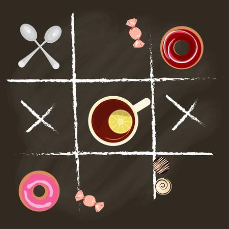 top menu: Chalk lettering and tea