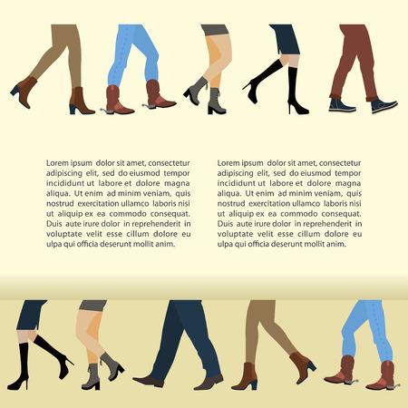 Legs of people Illustration