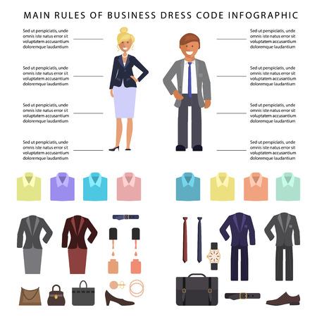 Business dress code infographics