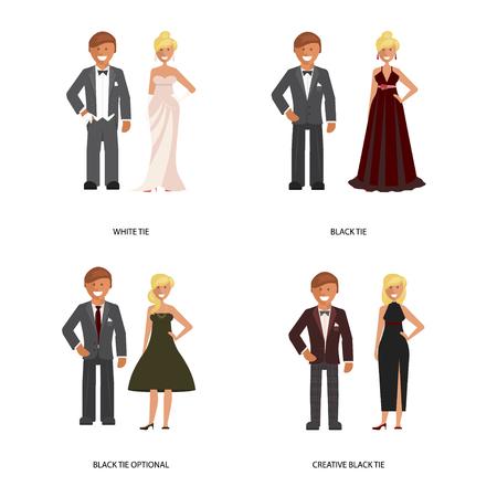 tie dress code Illustration
