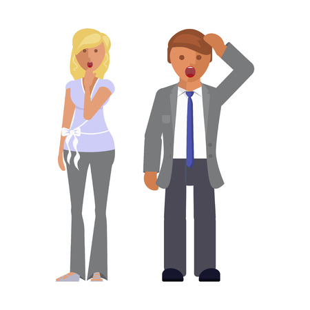 Man and woman expression.