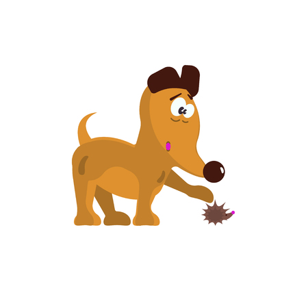 child sitting: Cute little dog. vector illustration Illustration
