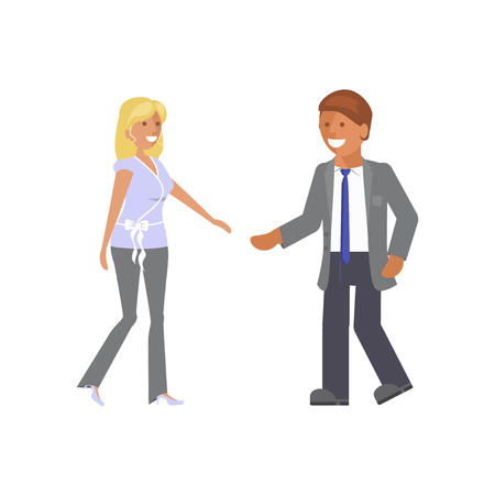 Man and woman expression Vector illustration. Illustration
