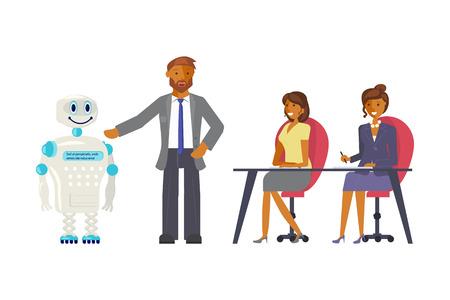 Artificial intelligence concept  イラスト・ベクター素材