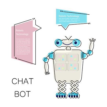 Cute chat bot Illustration