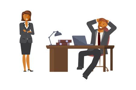 Manager man talking Illustration