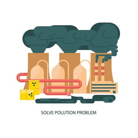 Eco technologies in the city vector illustration design.