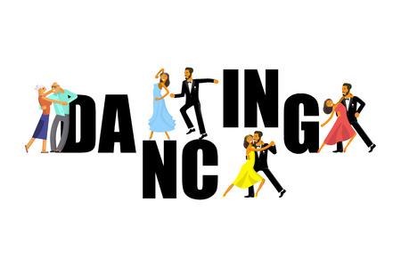 wedding dance lessons Stock Illustratie