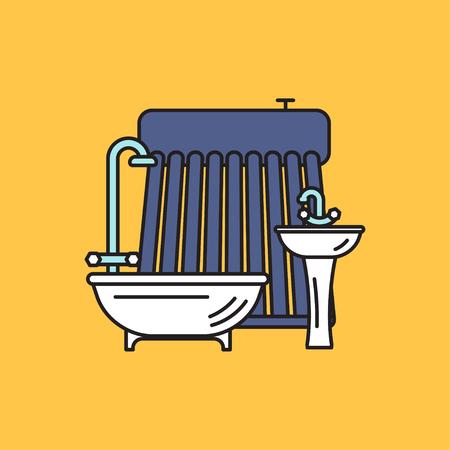 Solar water heater.