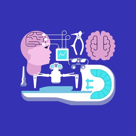 Medical ambulance icons Illustration