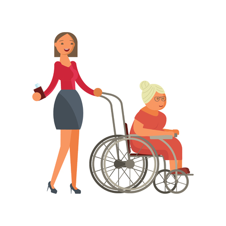 grandmother in wheelchair