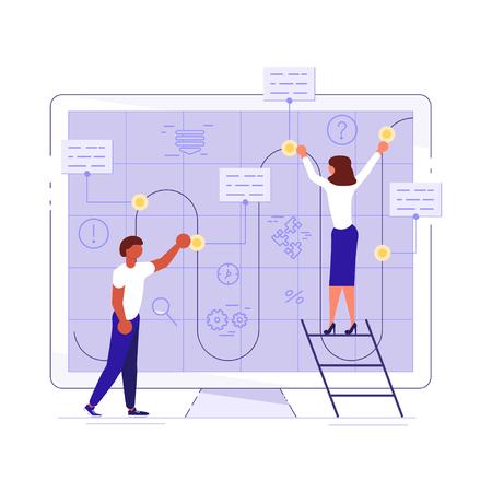 Planning development of ideas concept Banco de Imagens