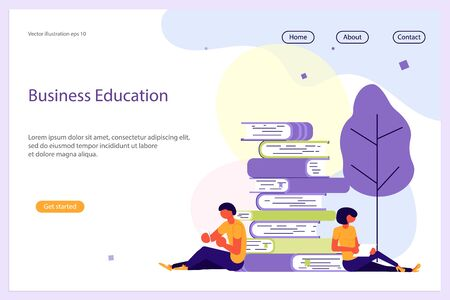 Business Analisys Website template for design uiux and mobile website development, business presentation. Strategy, analytics and brainstorming landing page. Flat Art Vector illustration Ilustração