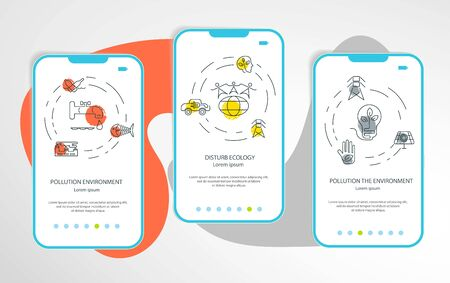 Set of mobile app of protection the environment and ecology. Eco Page Website Design Template. Flat Art Vector illustration