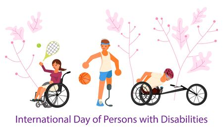International Day of Persons with Disabilities banner template. Flat Art Vector illustration