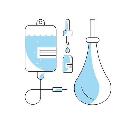 Medical and healthcare icon. Med outline sign isolated on white background. Suitable for infographic, websites and print media. Flat Art Vector Illustration