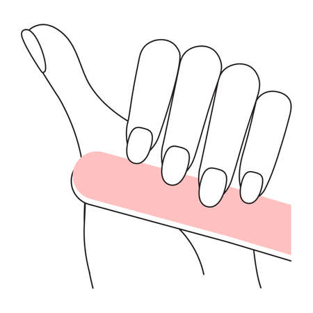 Manicured nails concept. Spa treatment for nail bar or beauty salon. Flat Art Vector Illustration 矢量图像