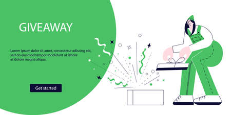 Landing webpage of Giveaway for promo in social network
