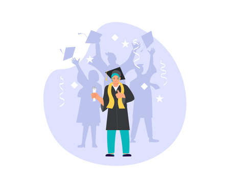 Graduation ceremony at university or college composition