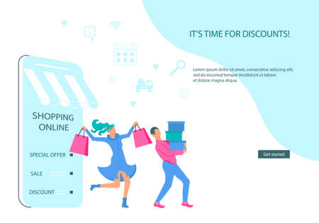 Landing web page template of Ecommerce retail