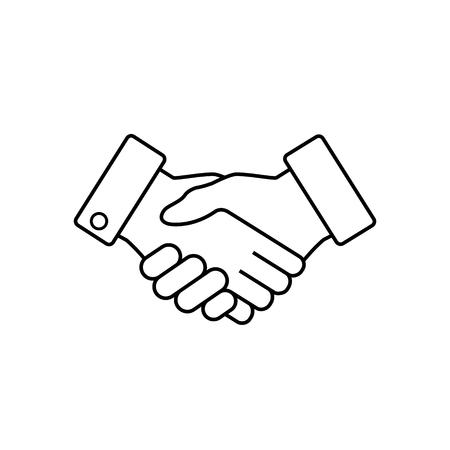 ハンドシェイク ビジネス アイコン、契約合意フラット web アイコン、ベクトル。