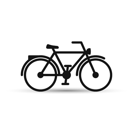 Bicycle icon on white background. Vector isolated illustration.