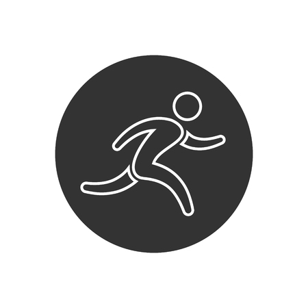 Running Man Icon Vector Isolated Simple Run Symbol Royalty Free