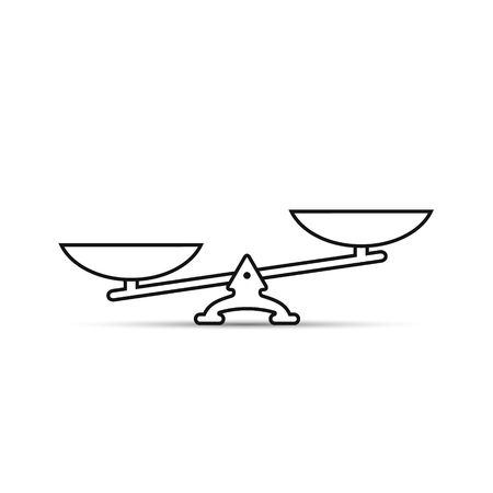 white bacground: Vector scales outline Icon, isolated on white bacground.